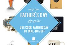 Father's Day Gift Guide / Whether he's your old man or a new father, we've got you covered. We've picked some guy favorites that your dad will love this Father's Day. Not only will you have a great gift, but take 40% off when you use the code FATHERSDAY at checkout. No exclusions on any item. Offer ends June 11, 2014 at 11:59 pm EST. Shop the gift guide at www.ShopTheShoppingBag.com / by The Shopping Bag