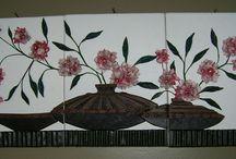 Deri Pano-leather panel / Burada deri ile yaptıgım kanvas tablolar bulacaksınız