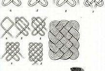 плетение квадратных ковриков из шнура