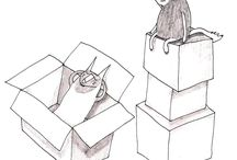 Nika Jaworowska - illustrations / Illustrations of two funny wolves