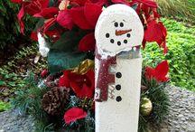 Brick snowmen