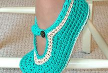 crochet hats, scarfs, & shoes