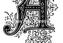 fonts,letters, etc