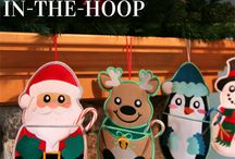 Christmas ornament in the hoop