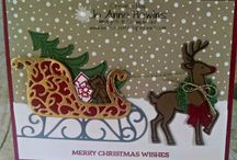 stampin' up santa's sleigh