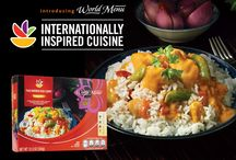 Our World Menu / Explore our exclusive line of internationally-inspired cuisine from around the world. Quality ingredients and easy preparation come together to bring a whole new world of flavor right to your table in minutes.