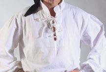 Men's Fashion Pirate Shirt / Long puffy sleeves be one of the signature of a great pirate shirt, they arrrr designed that way so you don't rip out yar sleeves when you sword fight, plus they look hot!