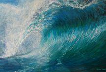 Oceans / These paintings can be viewed in my Oceans Gallery on www.jackiesherwood.com