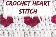 heart crohet stichis