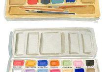 57 - Crayons et pinceaux