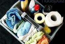 Putzen und Organisieren