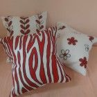 Handpainted Pillow / Handpainted Cotton Pillow Shams