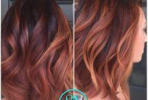 Dunkles Kupfer Haar