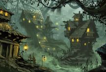 Inspirations : fantasy towns
