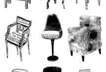 seating / seating inspirations.....lounging, bar, desk, etc.