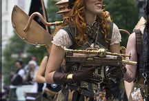 Steampunk wings and backpacks