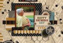 {Daddytude} Digital Scrapbook Collection by Aprilisa Designs / Father's Day is just around the corner.  This rich collection is a must have fabulous masculine kit for the grandfathers, fathers, husband, and son photos!