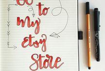 Etsy & handwriting