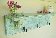 Pallet and up cycled wood...