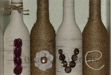 Bottles / Covered cooking wine, wine, and various other bottles make a unique addition to your decor. They also make great gifts for that special someone who seems to have everything. / by KenaKreations Edwards
