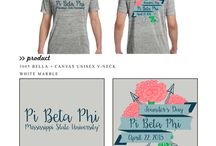 Founder's Day / Greek sorority and fraternity custom shirt designs featuring founder's day themes. For more information on screen printing or to get a proof for your next shirt order, visit www.jcgapparel.com