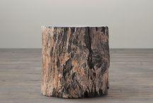 Log End Tables / The world's most amazingly beautiful stone log end tables for home furniture decoration.