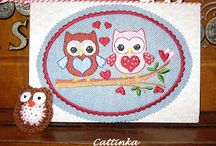 Artist Mailing Cards made with love by Cattinka