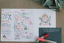 Wedding maps watercolored