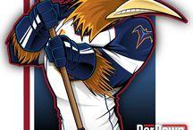 NHL Old Cartoon Maskots