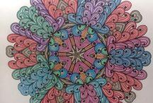 Mandala ingekleurd