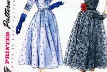 Fashion illustrations. Vintage