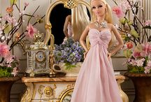 Barbie dolls, clothes,house