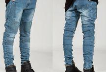 Mens Cool Skinny Designer Denim / Cool dark and skinny designer jeans gotta haves. Pleats and panels, blue or black denim
