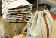 Canvas purses and bags
