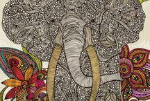 I love elephants and butterflies