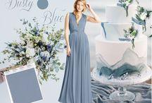 Dusty Blue   twobirds Bridesmaid