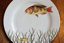 Assiette peinte