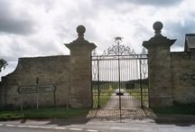 Country house gatehouses and entrance lodges.
