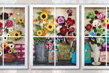 Wooden Window Frames, Mixed Media