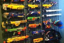 Nerf gun wall