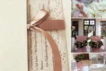 Romantic blush and gold wedding