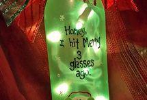 holiday wine bottles