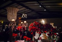 Decoração de casamento vermelha / fotos de casamentos com decoração na cor vermelha
