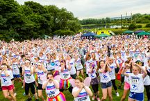 Kaleidoscope 5K / St Oswald's Hospice's Kaleidoscope 5K saw over 1,500 participants of all ages showered in a rainbow of coloured powdered paint as they moved around the course at the Rising Sun country park.  It was not a race, with the emphasis being on fun and participants ran, walked, jogged, skipped and danced their way round the 5 kilometres.