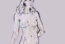 My drawings from life / Nude sketches and drawings of girls that i made during life drawing classes