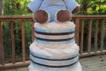 diper cake for baby shower
