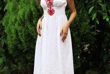 на платье