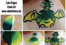 Our Face Painting Step by Steps / Step by step face painting images for different designs so you can give it a try.