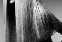 black & white hair