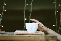 Könyv és kávé, tea